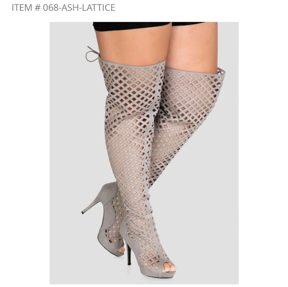 9f352ee4522 Ashley Stewart Shoes - Lattice Over the knee boots
